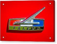 1964 Ford Falcon Emblem Acrylic Print by Jill Reger