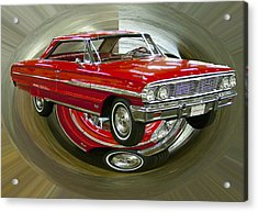 Acrylic Print featuring the photograph 1964 Ford Galaxie by B Wayne Mullins