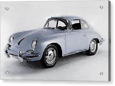1964 Porsche 356b Watercolor Acrylic Print