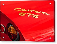 1964 Porsche Carrera Gts Taillight Emblem Acrylic Print by Jill Reger