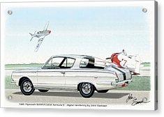 1965 Barracuda  Classic Plymouth Muscle Car Acrylic Print by John Samsen