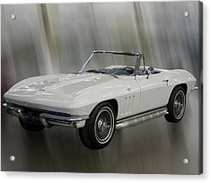 Acrylic Print featuring the photograph 1965 Chevy Corvette by B Wayne Mullins