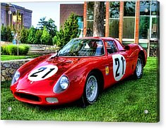 Acrylic Print featuring the photograph 1965 Ferrari V12 250 Lm by Tim McCullough