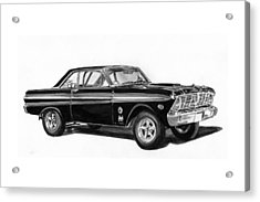 1965 Ford Falcon Street Rod Acrylic Print by Jack Pumphrey