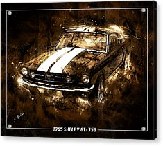 1965 Ford Shelby Mustang Gto-350 #5 Acrylic Print by Gary Bodnar