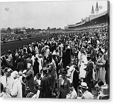 1965 Kentucky Derby Horse Racing Vintage Acrylic Print by Retro Images Archive