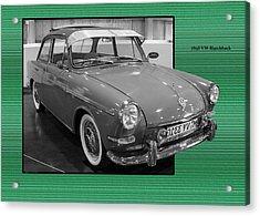 1965 Vw Notchback Acrylic Print