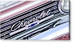1966 Chevrolet Biscayne Front Grille Acrylic Print by Jill Reger