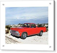 1966 Chevrolet El Camino 327 Acrylic Print by Jack Pumphrey