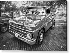 1966 Chevy C10 Pick Up Truck Painted Bw Acrylic Print
