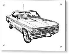 1966 Chevy Chevelle Ss 396 Illustration Acrylic Print