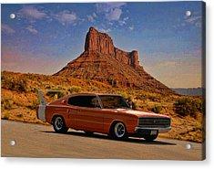 1966 Dodge Charger 500 Acrylic Print