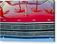 1966 Ford Galaxie 500 Convertible Grille Acrylic Print
