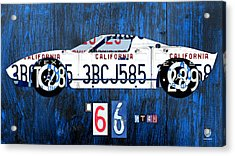 1966 Ford Gt40 License Plate Art By Design Turnpike Acrylic Print