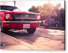 Acrylic Print featuring the photograph 1966 Ford Mustang Convertible by Gianfranco Weiss