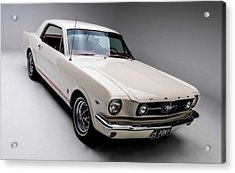 Acrylic Print featuring the photograph 1966 Gt Mustang by Gianfranco Weiss