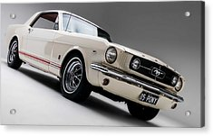 Acrylic Print featuring the photograph 1966 Mustang Gt by Gianfranco Weiss