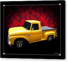 Acrylic Print featuring the photograph 1966 Pickup by Keith Hawley