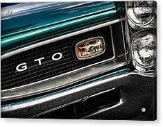 1966 Pontiac Gto Acrylic Print by Gordon Dean II