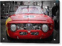 1967 Alfa Romeo Gtv Watercolor Acrylic Print by Naxart Studio