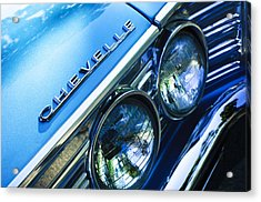 1967 Chevrolet Chevelle Malibu Head Light Emblem Acrylic Print by Jill Reger