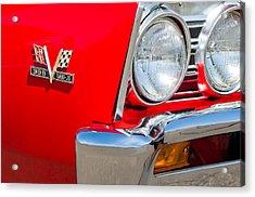 1967 Chevrolet Chevelle Ss Emblem Acrylic Print by Jill Reger