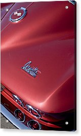 1967 Chevrolet Corvette Taillight Emblems Acrylic Print by Jill Reger