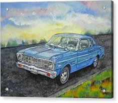 Acrylic Print featuring the painting 1967 Ford Falcon Futura by Anna Ruzsan
