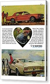 1967 Ford Mustang Acrylic Print