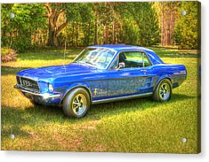 1967 Ford Mustang Acrylic Print