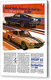 1967 Ford Mustang Shelby Gt350 And Gt500 Acrylic Print