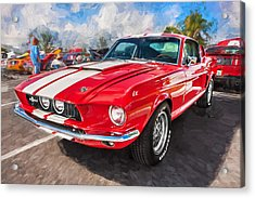 1967 Ford Shelby Mustang Gt500 Painted  Acrylic Print by Rich Franco