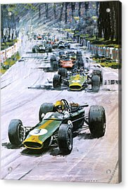 1967 French Grand Prix Acrylic Print by Graham Coton