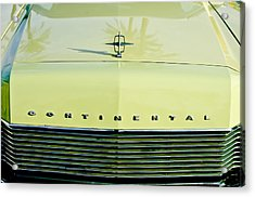 1967 Lincoln Continental Grille Emblem - Hood Ornament Acrylic Print by Jill Reger