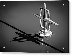 1967 Lincoln Continental Hood Ornament -1204bw Acrylic Print