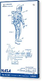 1967 Nasa Astronaut Ventilated Space Suit Patent Art 2 Acrylic Print