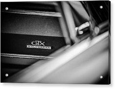1967 Plymouth Belvedere Gtx Dashboard Emblem -0994bw Acrylic Print