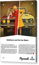 1967 Plymouth Gtx - Goldilocks And The Two Bears. Acrylic Print by Digital Repro Depot
