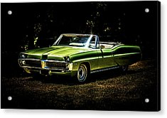 1967 Pontiac Bonneville Acrylic Print by motography aka Phil Clark