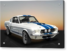 1967 Shelby Mustang Gt-350 With A Paxton Supercharger Acrylic Print