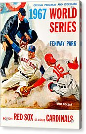 1967 World Series Program Acrylic Print