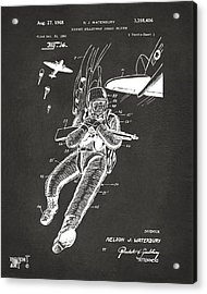 1968 Bulletproof Patent Artwork Figure 14 Gray Acrylic Print by Nikki Marie Smith
