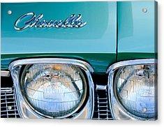 1968 Chevrolet Chevelle Headlight Acrylic Print by Jill Reger