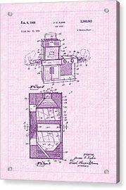 1968 Easy Bake Toy Oven Patent Art Acrylic Print by Barry Jones