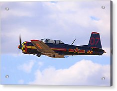 Acrylic Print featuring the photograph 1968 Nanchang Cj-6 Fly-by N221yk by John King