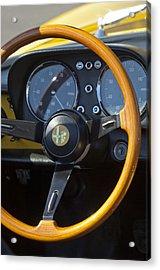 1969 Alfa Romeo 1750 Spider Steering Wheel Acrylic Print by Jill Reger