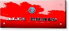 1969 Alfa Romeo Spider Veloce Iniezione Emblem Acrylic Print by Jill Reger