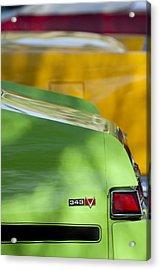 1969 Amc Javelin Sst Taillight Emblem Acrylic Print by Jill Reger
