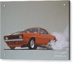 1969 Camaro Prostreet Acrylic Print by Paul Kuras