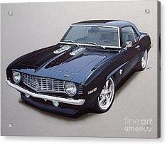 1969 Camaro Ss Custom Acrylic Print by Paul Kuras